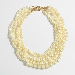 J. Crew Multistrand Twisted Hammock Pearl Necklace
